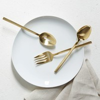 Gold Flatware Hostess Serving Set