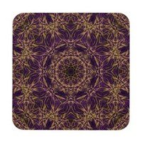 Purple Mandala Hippie Pattern Coaster