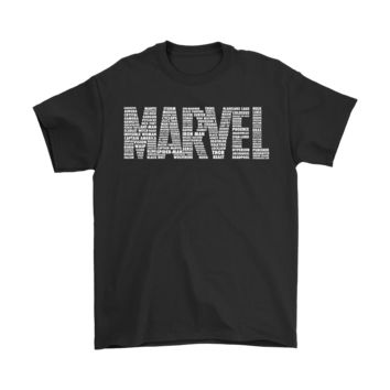 Marvel Super Heroes Name Puzzle Shirts
