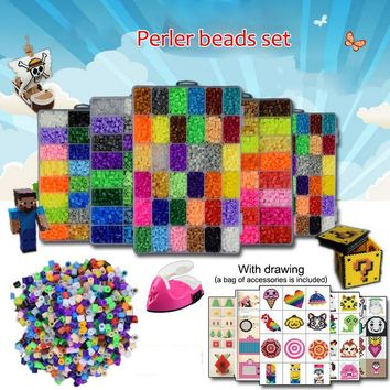 10000 Pcs/Set Multi-Color 5mm EVA Perler Beads Personalized DIY Puzzle Toy for Children Education Handwork with Iron Accessories