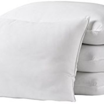 Ella Jayne Home Standard Size Bed Pillows- 4 Pack White Hotel Pillows- Gel Fiber Filled FIRM Gel Pillows with Hypoallergenic Classic Cover- Best Pillow For Side Sleepers & Back Sleepers