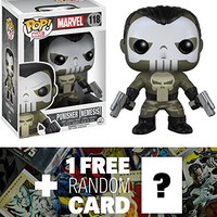 Nemesis Punisher: Funko POP! x Marvel Universe Vinyl Bobble-Head Figure + 1 FREE Official Marvel Trading Card Bundle [75095]