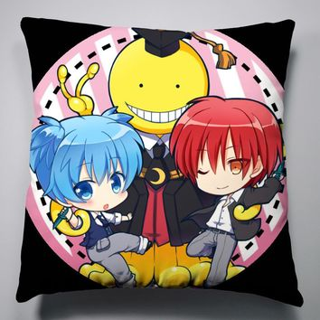 Anime Manga Assassination Classroom Pillow 40x40cm Pillow Case Cover Seat Bedding Cushion 002