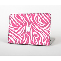 The Pink & White Vector Zebra Print Skin for the Apple MacBook Air 13""