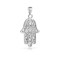 Bling Jewelry Ornate Hamsa Pendant