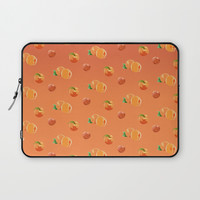Peach Pattern Laptop Sleeve by Paula Oliveira