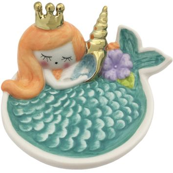 Mermaid Ceramic Trinket Tray