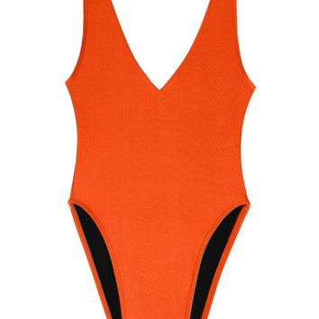 Surfari Day High Cut One Piece Swimsuit - Ember