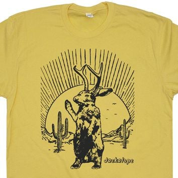 Jackalope T Shirt Mythical Animal Shirt Vintage Animal Shirt Cryptozoology Shirt