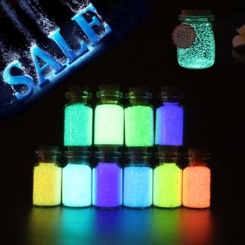 Glow in the dark particle 10g Luminous Party DIY Bright Paint Star Wishing Bottle Fluorescent Particles brinquedos toys