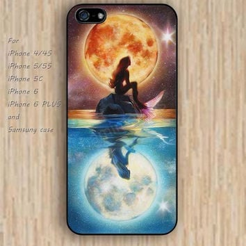 iPhone 6 case cartoon silver mermaid iphone case,ipod case,samsung galaxy case available plastic rubber case waterproof B140
