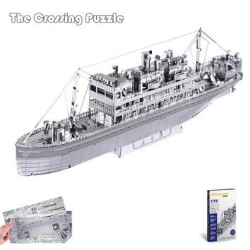 "Piececool 3D Metal Puzzle of ""The Crossing"" 3D Metal Assembled Model Kits from Laser Cut Metallic Sheets for Kids Toys & Gifts"