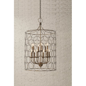 Creative Co-Op Uptown Steel Gold Circle Design Chandelier & Reviews | Wayfair