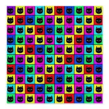 Rainbow Square Cat Pattern Shower Curtainu003e Rainbow Illustration Giftsu003e Hippy  Gift Shop Funky Hippie