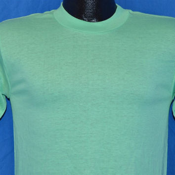 80s Teal Blank Deadstock t-shirt Small