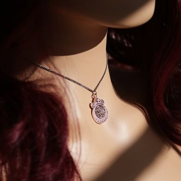 Shop Dixi Gothic Necklace | Blushed Rose Druzy Necklace