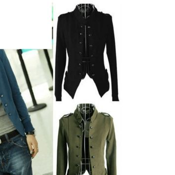 Women's Epaulet Military Style Jacket