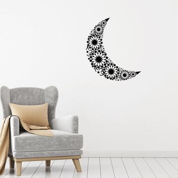 Vinyl Decal Wall Sticker Moon Ornament Romantic Mural Home Decor Unique Gift (g070)