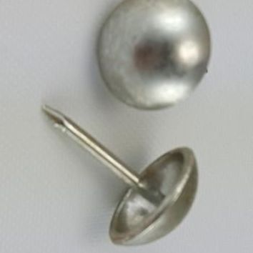 "Pewter 7/16"" Decorative Upholstery Tacks, Round Head (100)"