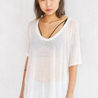 Silence + Noise Deep Scoop-Neck Dolman Tee-