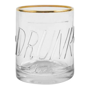 EASY TIGER EMBOSSED LOWBALL GLASS DRUNKISH
