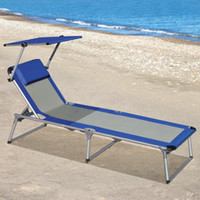 The Canopied Lounger - Hammacher Schlemmer