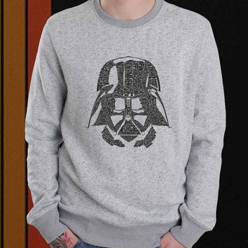 Dart Vader Typograph sweater Sweatshirt Crewneck Men or Women Unisex Size