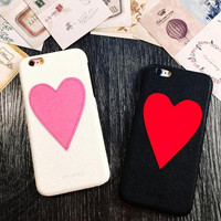 Love heart couple mobile phone case for iphone 6 6s 6 plus 6s plus + Nice gift box 71501