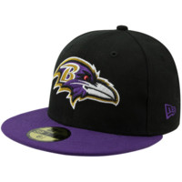 New Era Baltimore Ravens Two-Tone 59FIFTY Fitted Hat - Black/Purple