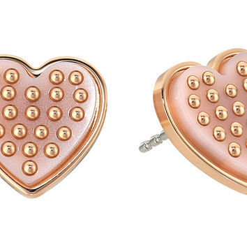 Michael Kors Micro Muse Heart Stud Earrings