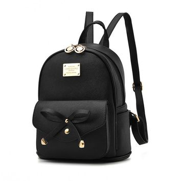 Student Backpack Children 2018 new fashion bow students backpack small fresh backpack female AT_49_3