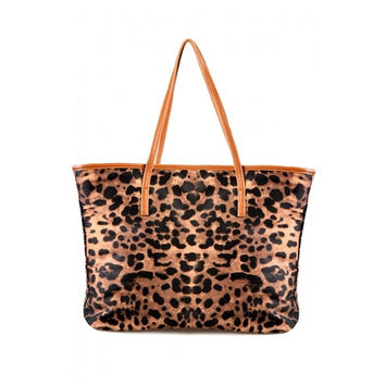 New Hot Leopard Grain Print PU Leather Women Handbag Tote Bag Shoulder Bag Purse