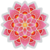 Red Mandala Lotus Mat Yoga Bohemian Tassel Beach Towel