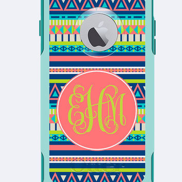 Monogrammed Otterbox Commuter Case iPhone 6 and iPhone 6 Plus Aztec