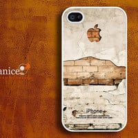 iphone 4 case cover iphone 4 protector iphone 4s case iphone 4 cover old wall image  unique Iphone case design