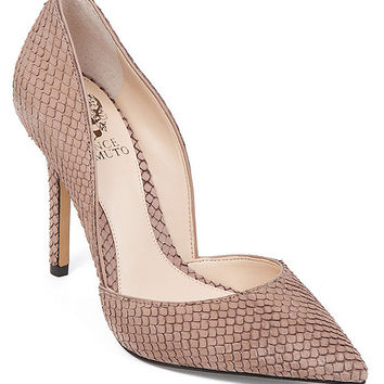 Vince Camuto Rowin Snake Pointed-Toe d´Orsay Pumps | Dillards