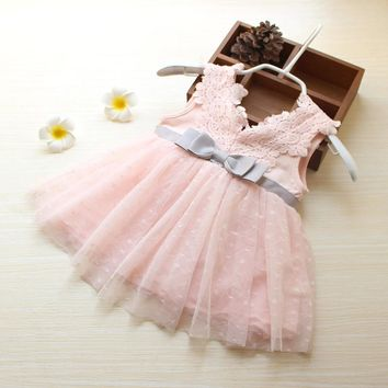 High quality NewBorn Baby Dresses Summer Princess lace Bow Infant Infant Dresses For baby Girls clothes Toddler clothes