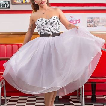 Rockabilly Tattoo Wedding Dress By TiCCi Rockabilly