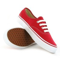 Vans Classic Authentic Red Womens Trainers