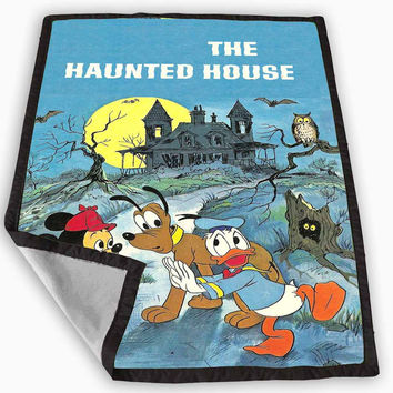 The Haunted Mansion Mickey Blanket for Kids Blanket, Fleece Blanket Cute and Awesome Blanket for your bedding, Blanket fleece *