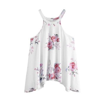 Women Floral Casual Sleeveless Top