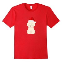 Maltese Poodle MaltiPoo T Shirt Santa Animal Christmas Shirt