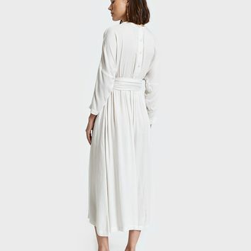 Black Crane / Wide Jumper with Belt in Cream