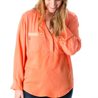 Sunny Days Orange Blouse