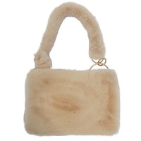 Fluffy Gold Loop Handbag