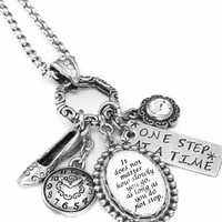 Inspirational Quote Necklace - Don't Stop, Be patient