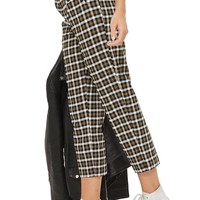 Topshop Monica Checked Peg Trousers | Nordstrom