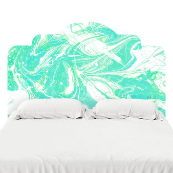 Pale Mint Marble Headboard Decal