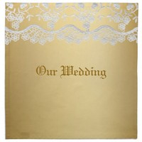 Gold And Lace Wedding Napkin
