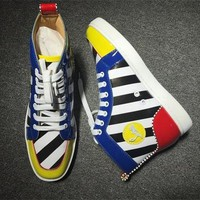 Cl Christian Louboutin Leather Style #2156 Sneakers Fashion Shoes - Best Online Sale